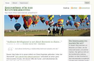 Ideenbörse für das Kulturmarketing