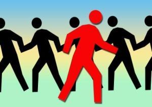 Gruppe Team Zusammenarbeit  4