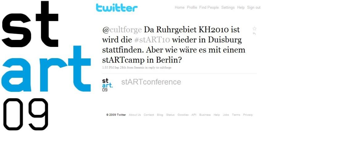 Twitter stART.09