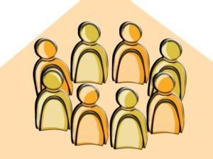 Gruppe Team Zusammenarbeit