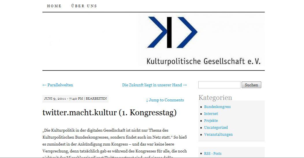 Kulturpolitische Gesellschaft (Blog)