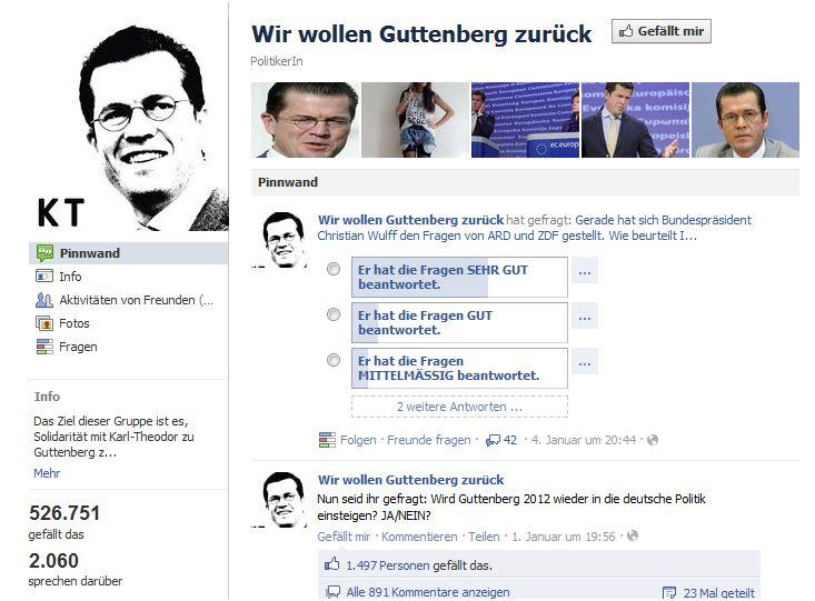 Wir wollen Guttenberg zurück