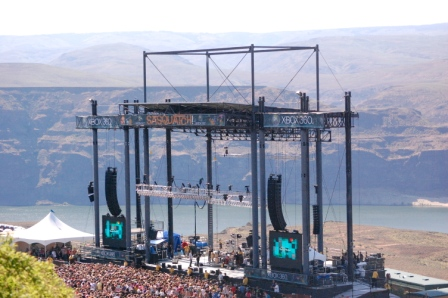 Sasquatch main stage and the gorge