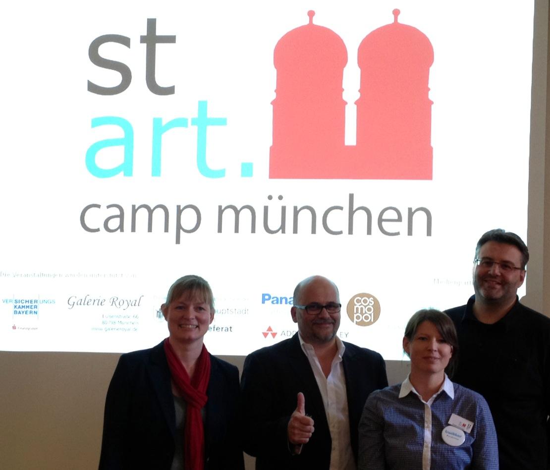Die OrganisatorInnen des stARTcamp in München (2012)