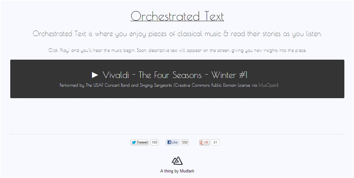 Orchestrated Text