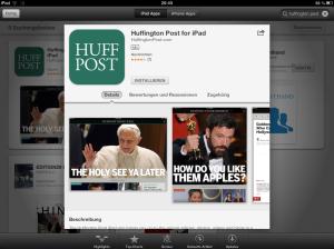Huffpost iPad-App