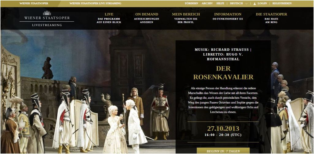 Screen Wiener Staatsoper livestreaming